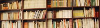 Estanterías de la biblioteca d ela RACEF