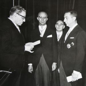 Ingreso Excmo. Sr. D. Juan de Arteaga y Piet (Marqués de la Vega Inclán). 21/11/1965  - 21/11/1965