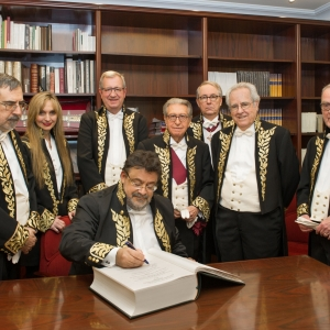 Admission of Enrique López as Corresponding Academician for Castilla y León, 02/15/2018 - 02-15-2018