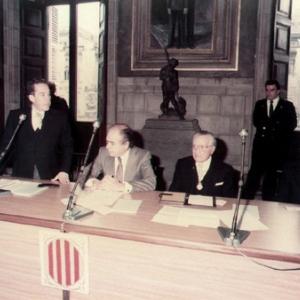 El muy honorable Presidente de la Generalidad de Cataluña en sesión conmemorativa de la RACEF - 03/01/1983