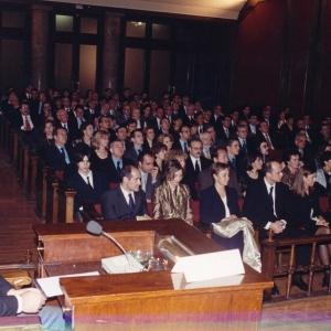 Asistentes del ingreso de Mario Aguer Hortal  21/02/2000 - 21/02/2000