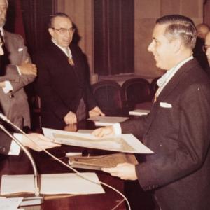 Ingreso del Dr. Lorenzo Gascón como académico de número en la RACEF - 30/01/1979