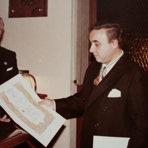 Ingreso del Dr. Joan Hortalà Arau como académico de número en la RACEF - 12/12/1985