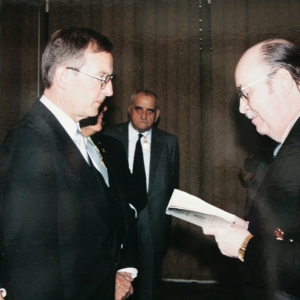 Admission of Dr. Juergen B. Donges as corresponding academician for Germany to the RACEF - 04-16-1998
