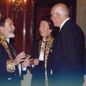 El presidente del Senado. Excmo.Sr.D.Javier Rojo con Delruelle y Francesc Granell 30/10/2008 - 30/10/2008