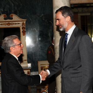 Reception of HM the King Felipe VI to Real Academia de Ciencias Económicas y Financieras of Spain, 02/27/2017 - 02-27-2017