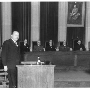Ingreso como Académico de Número de Antonio Aunós Pérez, 19/12/1944 - 19/12/1944