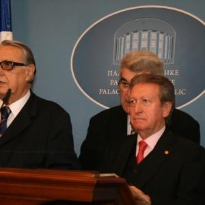 El Excmo Sr. Dr. D. Rajko Kuzmanovic, Presidente de la República Srpska, y el Excmo Sr. Dr. D. Jaime Gil Aluja, Presidente de la Real Academia de Ciencias Económicas y Financieras. 23/10/09 - 23/10/2009