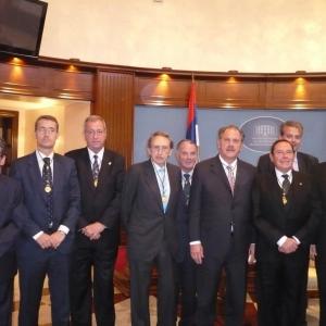 Audiencia del Presidente de la República de Sprska Sr. Milorad Dodik a los miembros de la RACEF con ocasión de la sesión académica en Banja Luka el 16 de mayo de 2011 - 16/05/2011