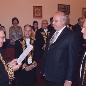 Ingreso del Dr. Momir Djurovic como académico correspondiente para Montenegro en la RACEF (19-04-2012) - 19/04/2012