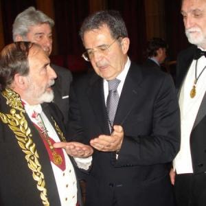 Ingreso de Romano Prodi como académico correspondiente para Italia el 12 de marzo de 2009 - 12/03/2009