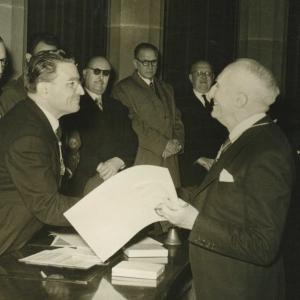 Ingreso en RACEF del Dr. Rafael Gay de Montellà - 16/11/1954