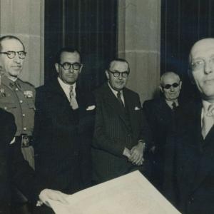 Ingreso en la RACEF del Sr. D. Henri de Lovinfosse - 20/04/1949
