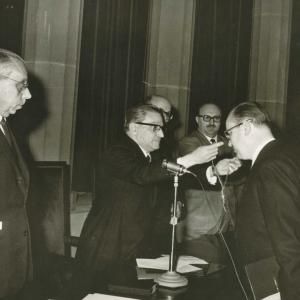 Ingreso en RACEF del Dr. Mario Pifarré Riera - 13/12/1964