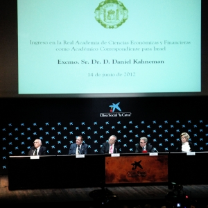 Admission speech of Dr. Daniel Kahneman as corresponding academician for Israel (14-06-2012) - 06-14-2012