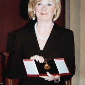 Sra. Liz Mohn durante la entrega de su medalla de honor - 16/10/2008