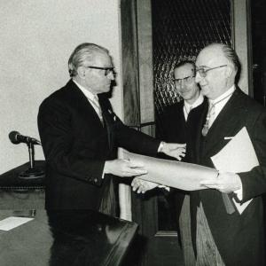 Ingreso del Ilmo. Sr. D. Juan Noguera Salort, 26-02-1976 - 26/02/1976