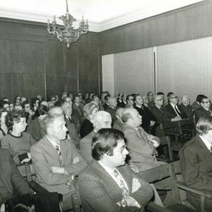 Asistentes al ingreso del Excmo. Sr. D. Emilio Alfonso Hap Dubois,12-02-1976  - 12/02/1976