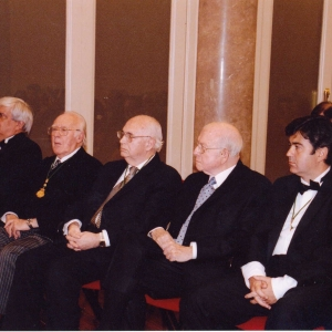Académicos asistentes al ingreso del Excmo. Sr. Dr. D. José Manuel Barreiro Fernández, 15-12-2005 - 15/12/2005
