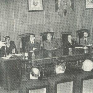 El Rdo. P.  Enrique Chacón Xérica, S.J., en el acto de su recepción - 14/05/1959
