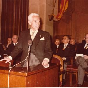 Ingreso de Rafael Termes Carreró - 29/10/1984