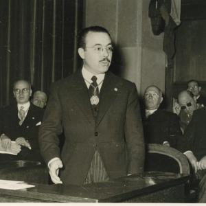 Ingreso del Excmo. Sr. Dr. D. Antonio Goxens Duch 28/01/1954 - 28/01/1954