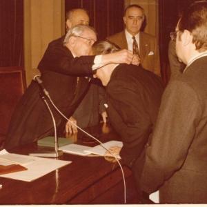 Ingreso del Excmo. Sr. D. José M. Codony Val, 12-12-1978  - 12/12/1978
