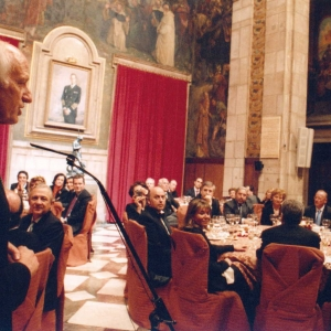 Asistentes a la cena de gala con motivo del ingreso de André Azoulay correspondiente para Marruecos10/04/2003  - 10/04/2003