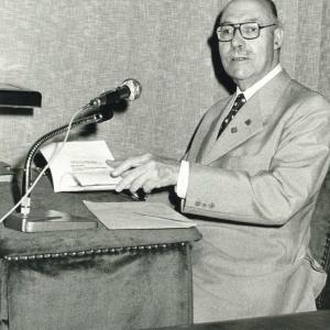Román Perpiñá Grau en un acto académico - 18/11/1956