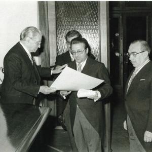 Asistentes al ingreso del Excmo. Sr. Dr. D. Jaime Gil Aluja, 29-04-1976 - 29/04/1976