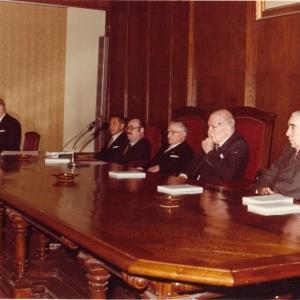 Presidencia en el ingreso del Excmo. Sr. Dr. D. Laureano López Rodó, 16-03-1979 - 16/03/1979