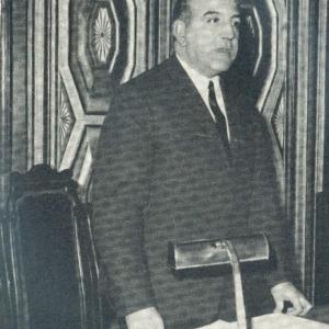 El académico Pedro Voltes Bou durante su conferencia en el Salón d Crónicas, 27/02/1967 - 27/02/1967