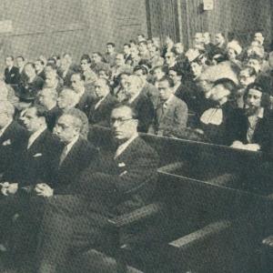 Sesión inaugural del curso 1944-1945, Recepción de los Académicos Numerarios Blanco, Cereceda, Ganduxer, Gardó, Liuch, Núñez y Piqué - 04/03/1944