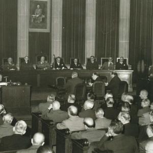 Asistentes del ingreso de Félix Escalas Chamení como académico de número, 13/11/1960 - 13/11/1960