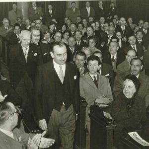 Asistentes al acto del ingreso de José María Sainz De Vicuña y García - Prieto como académico de número, 10/01/1960 - 10/01/1960
