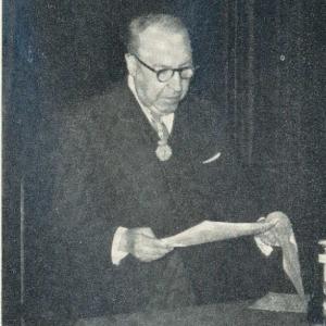 Ingreso de Germán Bernácer Tormo como académico correspondiente para Madrid, 05/05/1960  - 05/05/1960