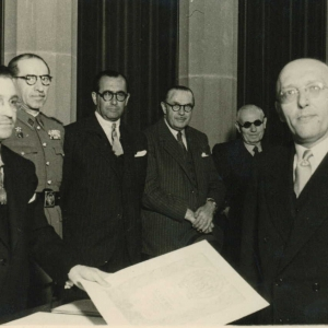 Ingreso de Henri De Lovinfosse como académico correspondiente para Bélgica, 20/04/1949  - 20/04/1949