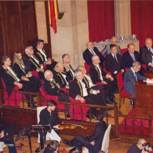 Académicos asistentes al acto del ingreso del Excmo. Sr. D. César Alierta Izuel 11-11-2013  - 11/11/2013