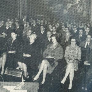 Asistentes de conferencia de Bicentenario del inicio de la industrialización de España, 27/02/1967 - 27/02/1967