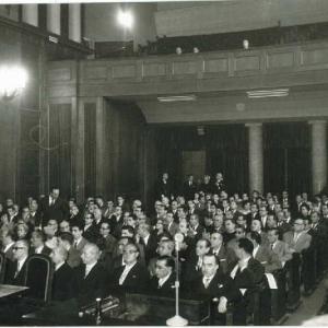 Asistentes al ingreso del Dr. Antonio Polo como académico de número de la RACEF  - 26/11/1961