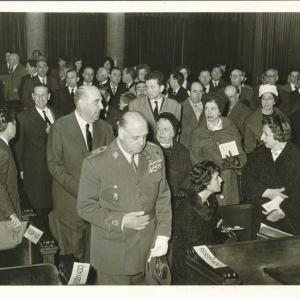 Ingreso de Excmo. Sr. D. José María Sainz De Vicuña y García - Prieto como académico de número 01/10/1960  - 10-01-1960