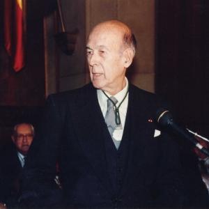 Ingreso del Excmo. Sr. Dr. D. Valéry Giscard D´Estaing, 5 de Octubre de 1995  - 05/10/1995