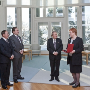 H.E. Mrs. Tarja Halonen, President of the Republic of Finland - 02-10-2012
