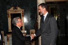 Recepción de SM el Rey Felipe VI a la Real Academia de Ciencias Económicas y Financieras, 27/02/2017
